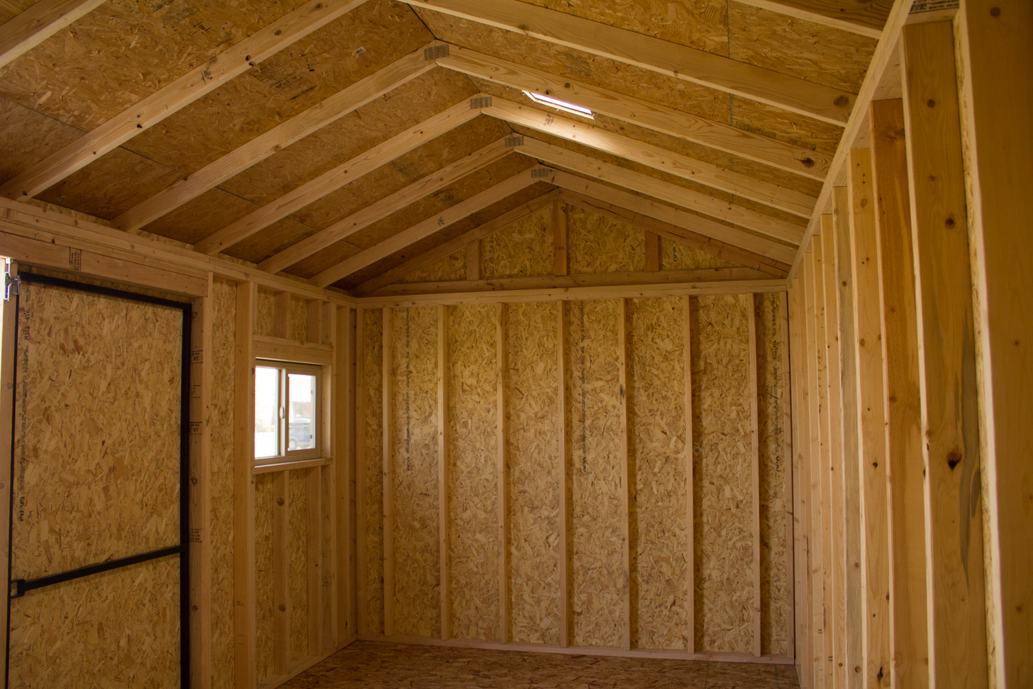 primer shed framing spacing