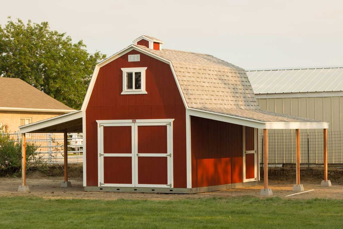 barn shed miller storage potting sheds barns garden products