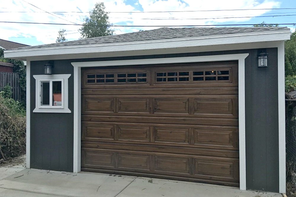 Attached or detached garage a shed usa for Detached garage utah