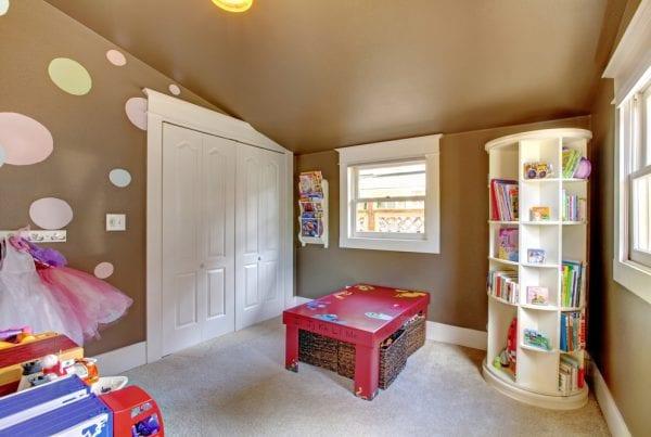 converting shed kid's playroom